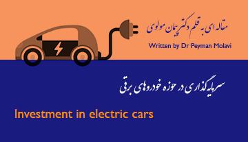 سرمایهگذاری در حوزه خودروهای برقی