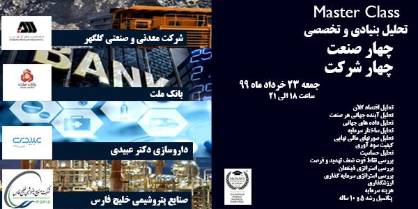 کارگاه آنلاین آموزشی( تحلیل بنیادی و تخصصی چهار صنعت چهار شرکت بورسی ایران)