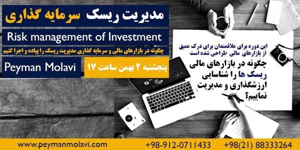 کارگاه آنلاین آموزشی (مدیریت ریسک سرمایه گذاری)