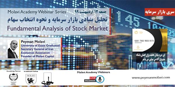 کارگاه آنلاین آموزشی(تحلیل بنیادی بازار سرمایه و استراتژی انتخاب سهام)