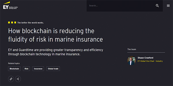How blockchain is reducing the fluidity of risk in marine insurance