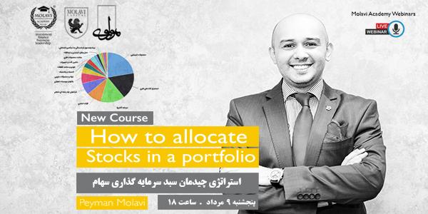 کارگاه آنلاین آموزشی ( استراتژی چیدمان سبد سرمایه گذاری سهام)